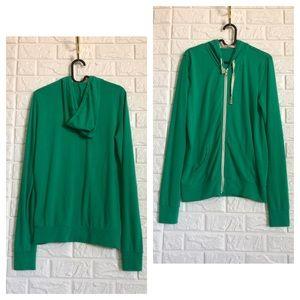 Abbot Main Kelly green lightweight zip up hoodie